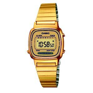 9ab8e672f0d Reloj Casio Collection retro dorado